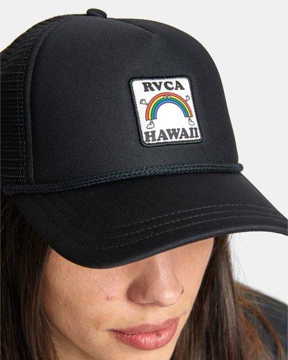 1 Aloha Rainbow TRUCKER HAT Black AVJHA00106 RVCA