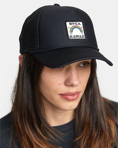 2 Aloha Rainbow TRUCKER HAT Black AVJHA00106 RVCA