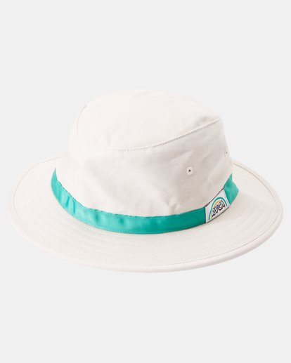 4 Camille Rowe | Camille Bucket Hat White AVJHA00115 RVCA