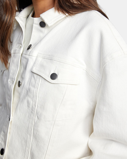 4 Tuesdays Denim Jacket White AVJJK00123 RVCA