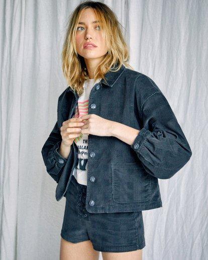 2 Camille Rowe | Bel Shirt Jacket Black AVJJK00129 RVCA