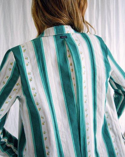 2 Camille Rowe | Camille Jacket Green AVJJK00130 RVCA
