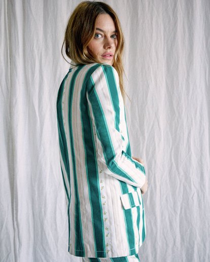 4 Camille Rowe | Camille Jacket Green AVJJK00130 RVCA