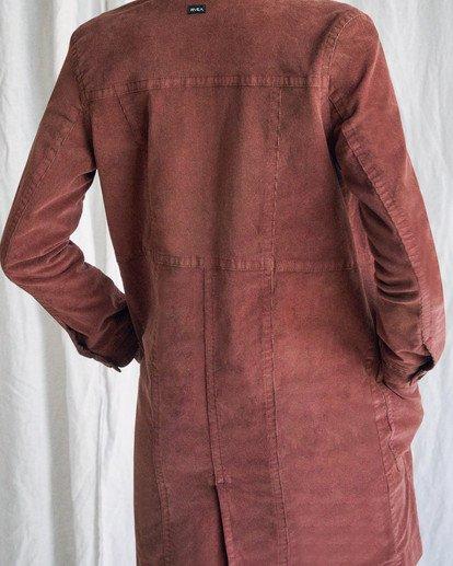 12 Camille Rowe | Paradis Coat Brown AVJJK00131 RVCA