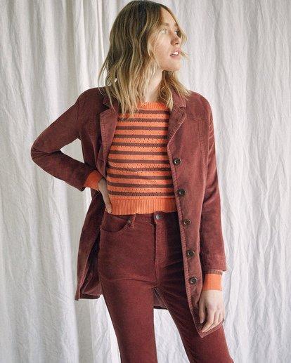 2 Camille Rowe | Paradis Coat Brown AVJJK00131 RVCA