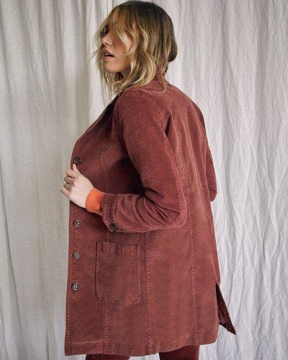 6 Camille Rowe | Paradis Coat Brown AVJJK00131 RVCA