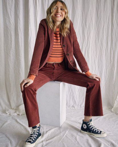 7 Camille Rowe | Paradis Coat Brown AVJJK00131 RVCA
