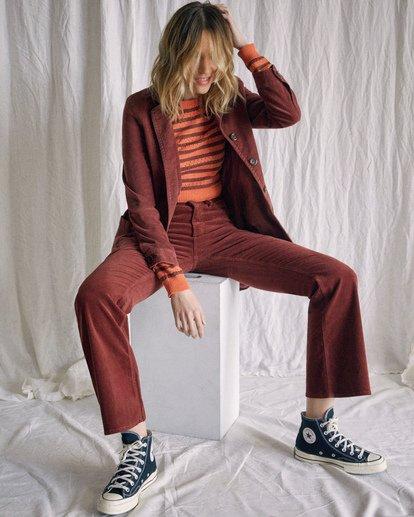 8 Camille Rowe | Paradis Coat Brown AVJJK00131 RVCA