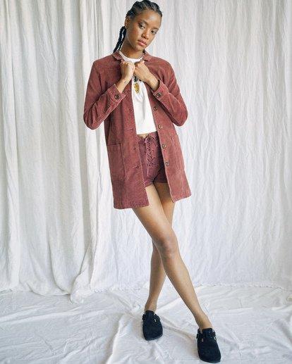 10 Camille Rowe | Paradis Coat Brown AVJJK00131 RVCA