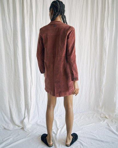 11 Camille Rowe | Paradis Coat Brown AVJJK00131 RVCA