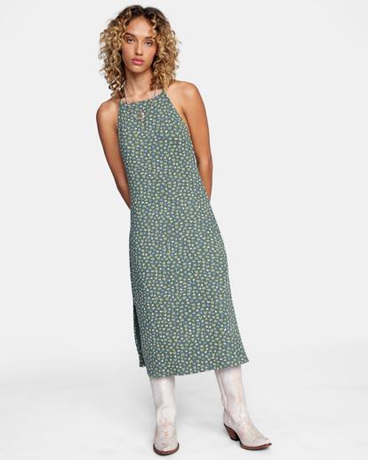 0 Endless Fun Midi Dress Green AVJKD00120 RVCA