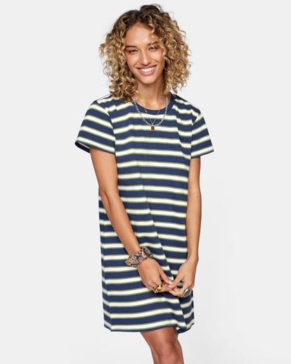 0 Jumpstart T-Shirt Dress Blue AVJKD00124 RVCA