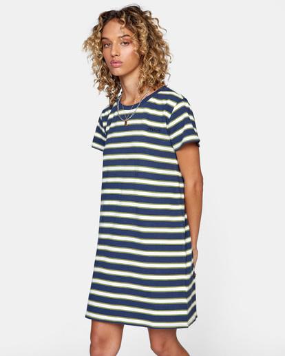 4 Jumpstart T-Shirt Dress Blue AVJKD00124 RVCA