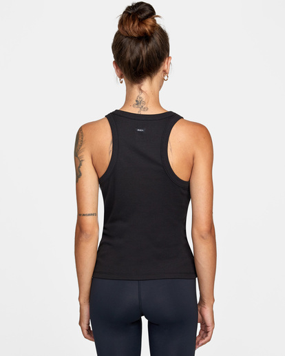 1 Essential Ribbed Workout Tank Top Black AVJKT00134 RVCA