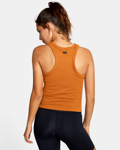 1 Essential Ribbed Workout Tank Top Brown AVJKT00134 RVCA