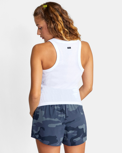 1 Essential Ribbed Workout Tank Top White AVJKT00134 RVCA