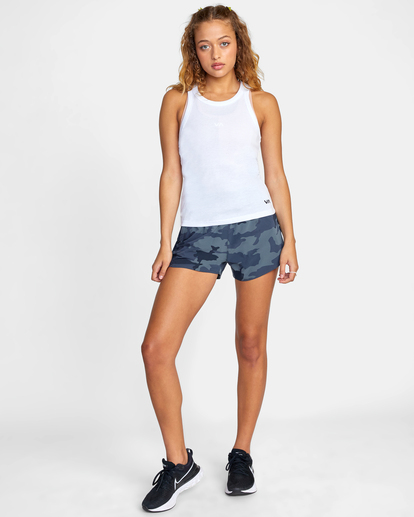 3 Essential Ribbed Workout Tank Top White AVJKT00134 RVCA