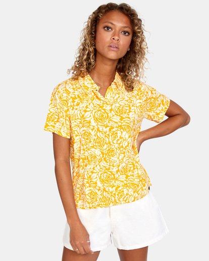 1 Tonal Top Yellow AVJKT00143 RVCA