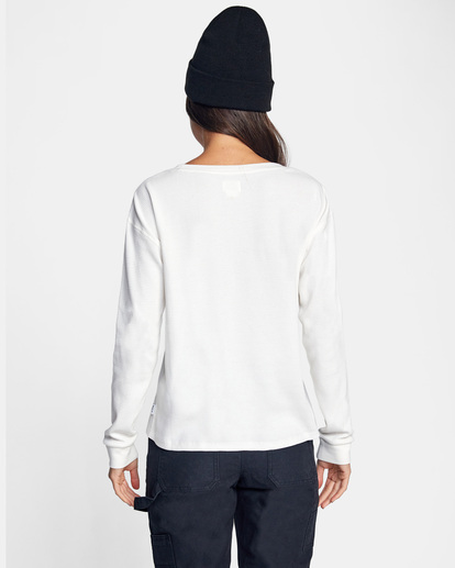 1 Recession Long Sleeve Thermal Top White AVJKT00160 RVCA