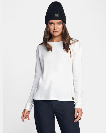 0 Recession Long Sleeve Thermal Top White AVJKT00160 RVCA
