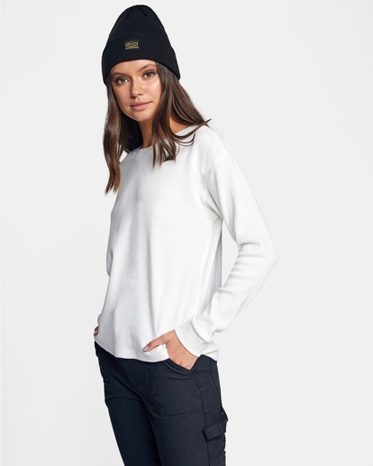 4 Recession Long Sleeve Thermal Top White AVJKT00160 RVCA