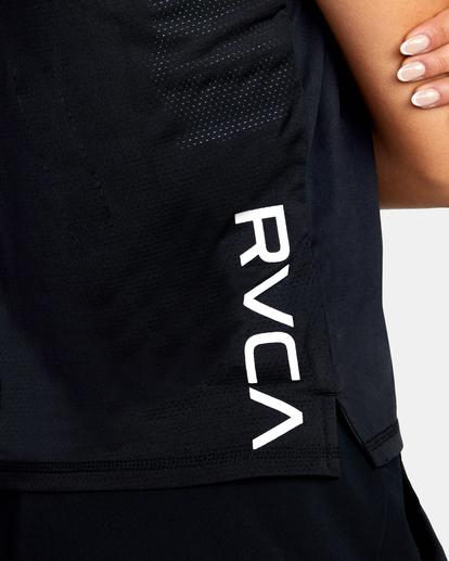 6 Sport Vent Performance Workout Tee Black AVJKT00163 RVCA