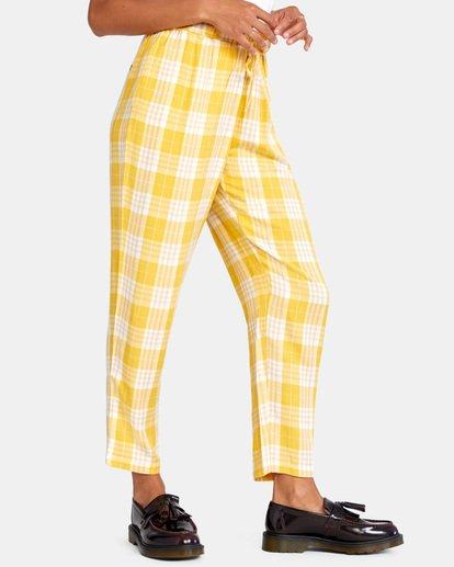 5 BLANK SLATE RELAXED FIT PANTS Yellow AVJNP00110 RVCA