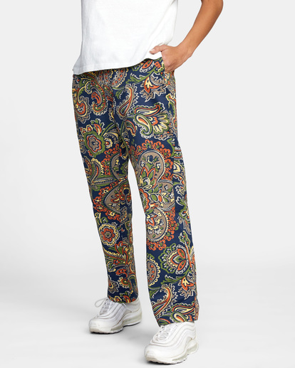 4 Weekend Stretch Chino Pants Blue AVJNP00132 RVCA