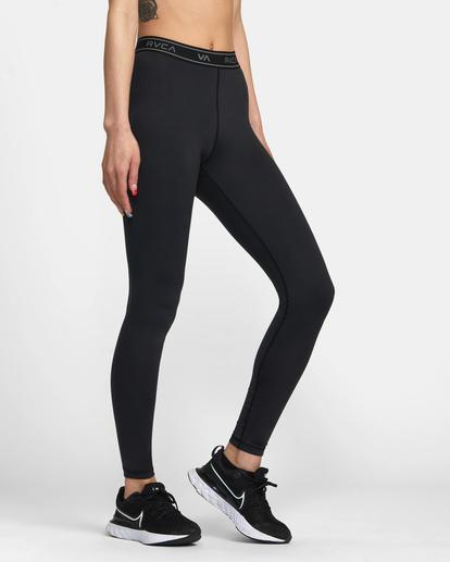 5 Base Workout Leggings Black AVJNP00147 RVCA