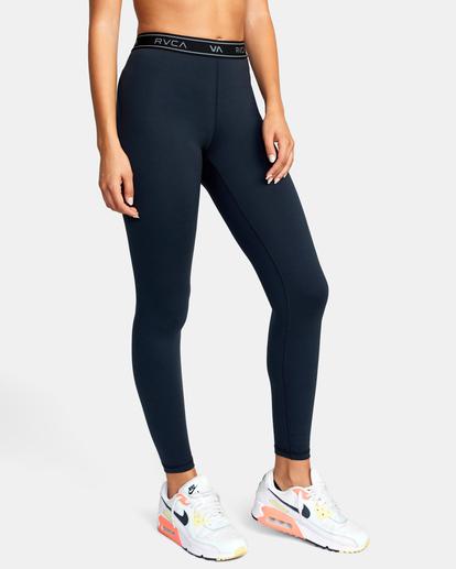 6 Base Workout Leggings Black AVJNP00147 RVCA