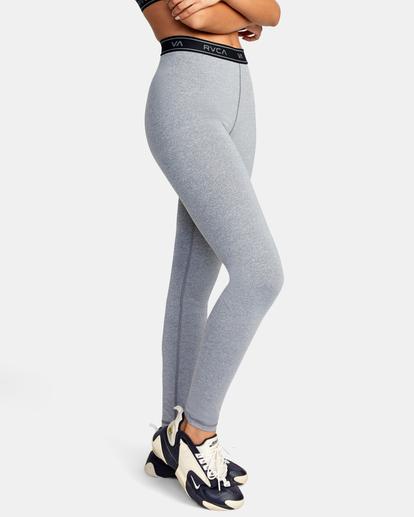 6 VA Sport   Base Workout Leggings Grey AVJNP00147 RVCA