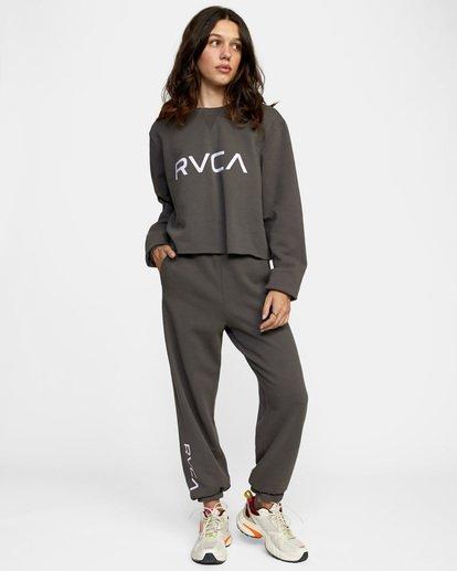 2 WoBig RVCA Sweatpant Black AVJNP00153 RVCA