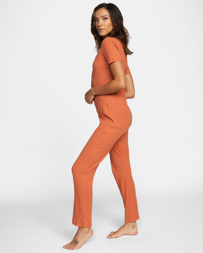 4 Won't Stop Knit Jumpsuit Multicolor AVJOS00109 RVCA