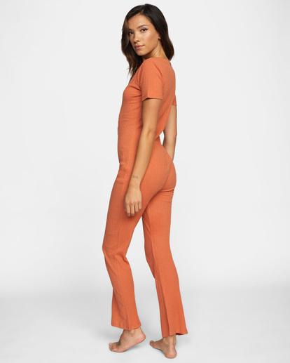 5 Won't Stop Knit Jumpsuit Multicolor AVJOS00109 RVCA