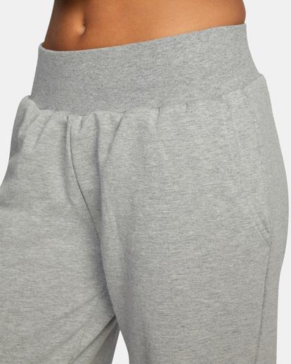 2 Rise Up Lounge Pants Grey AVJPT00108 RVCA