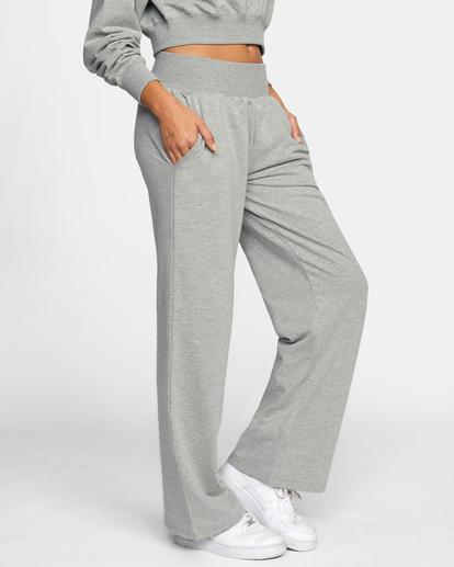 6 Rise Up Lounge Pants Grey AVJPT00108 RVCA