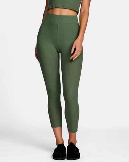 0 With Love High-Waisted Leggings Green AVJPT00109 RVCA