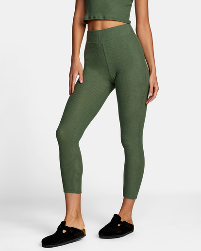 3 With Love High-Waisted Leggings Green AVJPT00109 RVCA