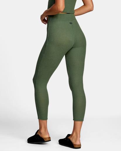 4 With Love High-Waisted Leggings Green AVJPT00109 RVCA