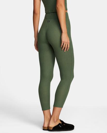 5 With Love High-Waisted Leggings Green AVJPT00109 RVCA