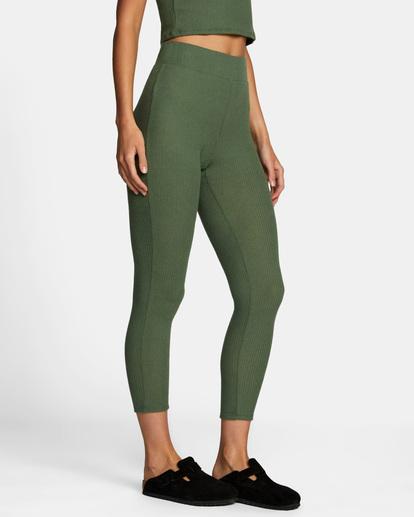 6 With Love High-Waisted Leggings Green AVJPT00109 RVCA