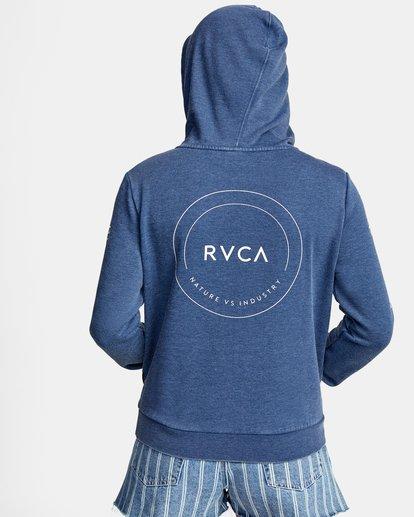 1 CLASSIC RVCA PULLOVER HOODIE Blue AVJSF00129 RVCA