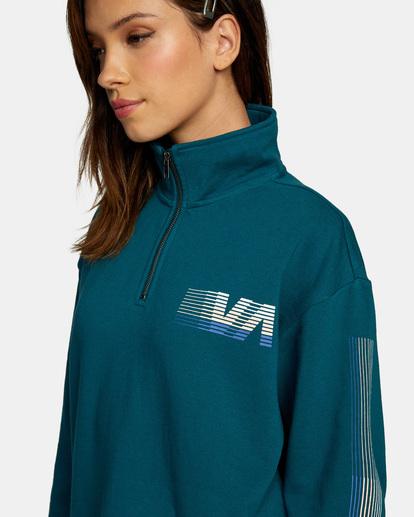 3 La 84 Quarter Zip Sweatshirt Multicolor AVJSF00156 RVCA