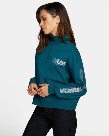 5 La 84 Quarter Zip Sweatshirt Multicolor AVJSF00156 RVCA