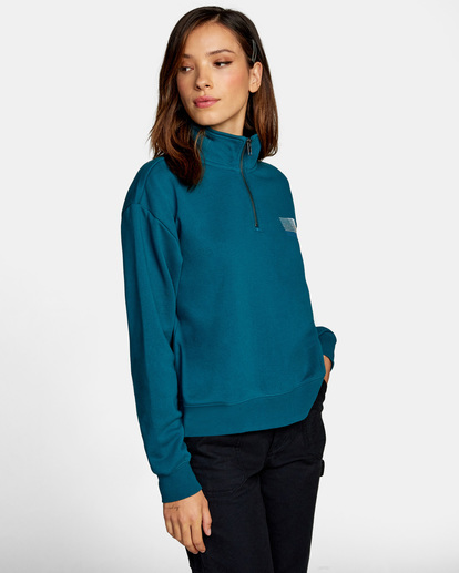 7 La 84 Quarter Zip Sweatshirt Multicolor AVJSF00156 RVCA