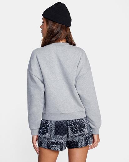 1 Big RVCA Crewneck Sweater Grey AVJSF00157 RVCA