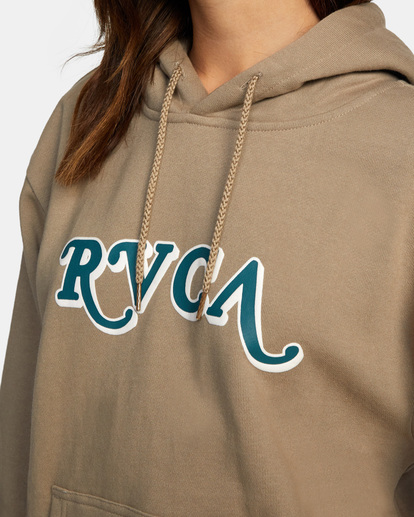 2 Retro Hoodie Grey AVJSF00160 RVCA