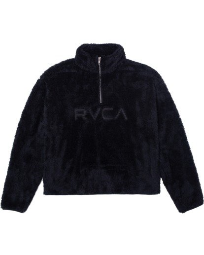6 Relaxed RVCA Quarter Zip Sweater White AVJSF00178 RVCA