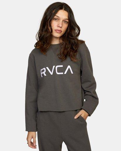 0 BIG RVCA CREW Black AVJSF00186 RVCA