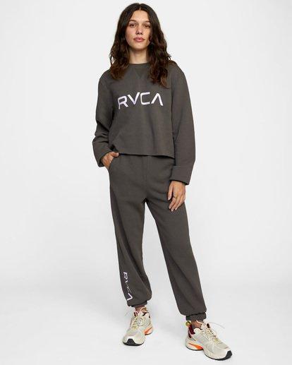 2 BIG RVCA CREW Black AVJSF00186 RVCA